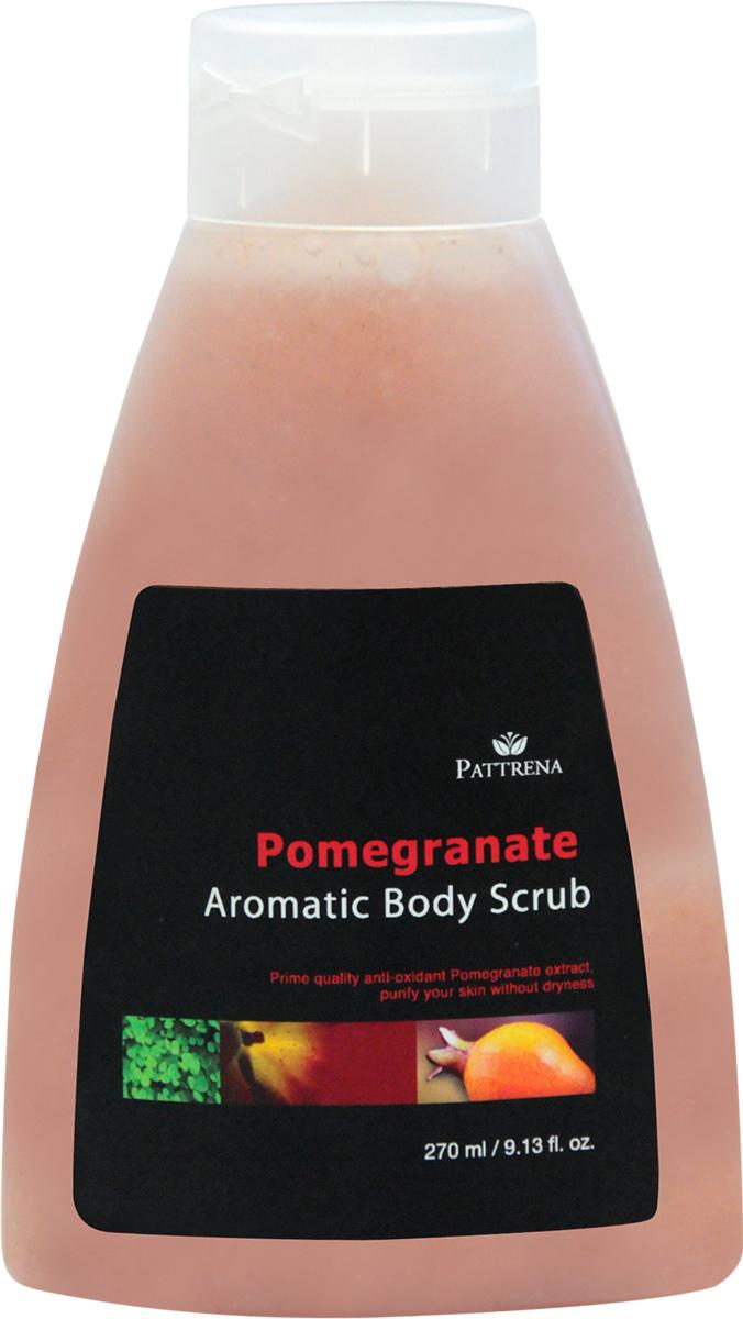 Pattrena Ароматный скраб для тела тайский Гранат, 270 мл60951Скраб для тела с натуральными питательными ингредиентами – скорлупа грецкого ореха, удаляет омертвевшие клетки, придавая дополнительное питание коже. Скраб освежает, смягчает и питает кожу. Содержит антиоксидантные свойства. Обладает неповторимым пробуждающим ароматом Граната.