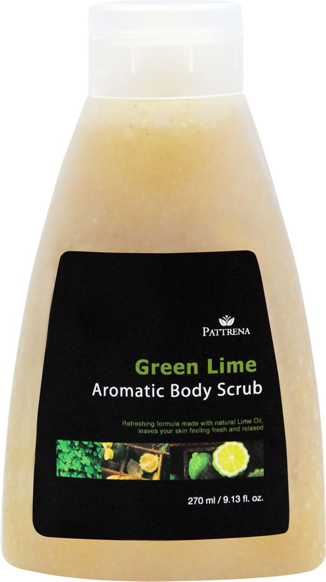 Pattrena Ароматный скраб для тела тайский Зеленый лайм, 270 мл61051Скраб для тела с натуральными питательными ингредиентами – скорлупа грецкого ореха, удаляет омертвевшие клетки, придавая дополнительное питание коже. Сочетает в себе увлажняющие эффекты, не пересушивая кожу. Придает коже мягкость и ощущение свежести на длительное время. Обладает пробуждающим ароматом зеленого Лайма.