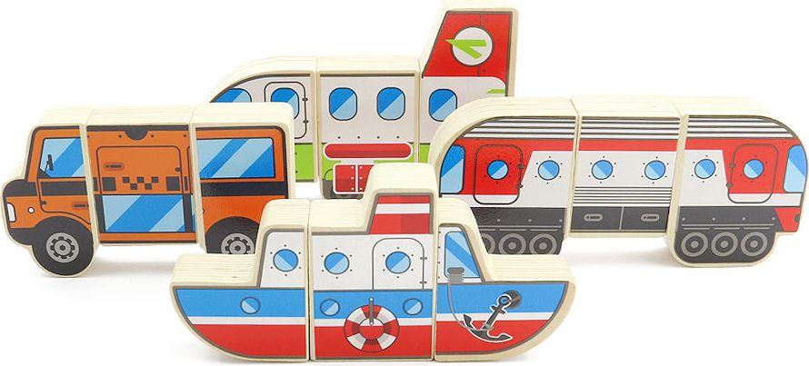 Мир деревянных игрушек Магнитные фигуры Транспорт мир деревянных игрушек конструктор каталка полиция