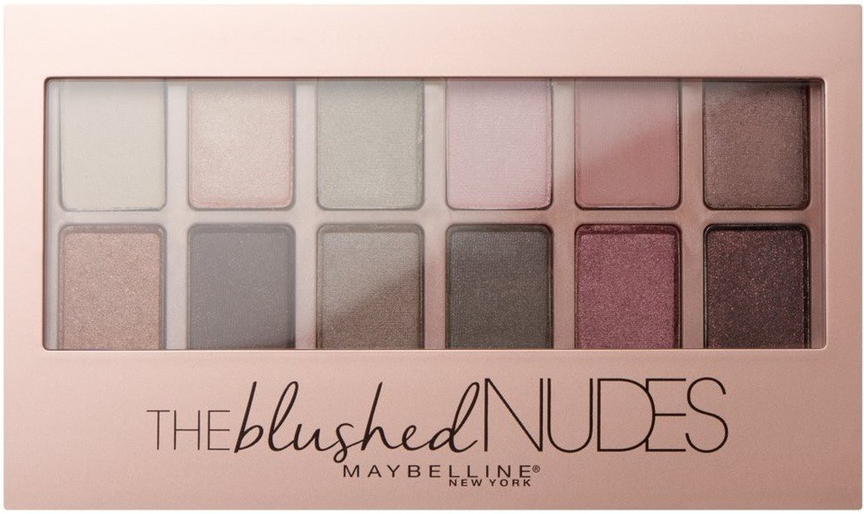 Maybelline New York Палетка теней для век Blushed Nudes, натуральные оттенки, 9,6 г maybelline maybelline палетка теней the nudes 01
