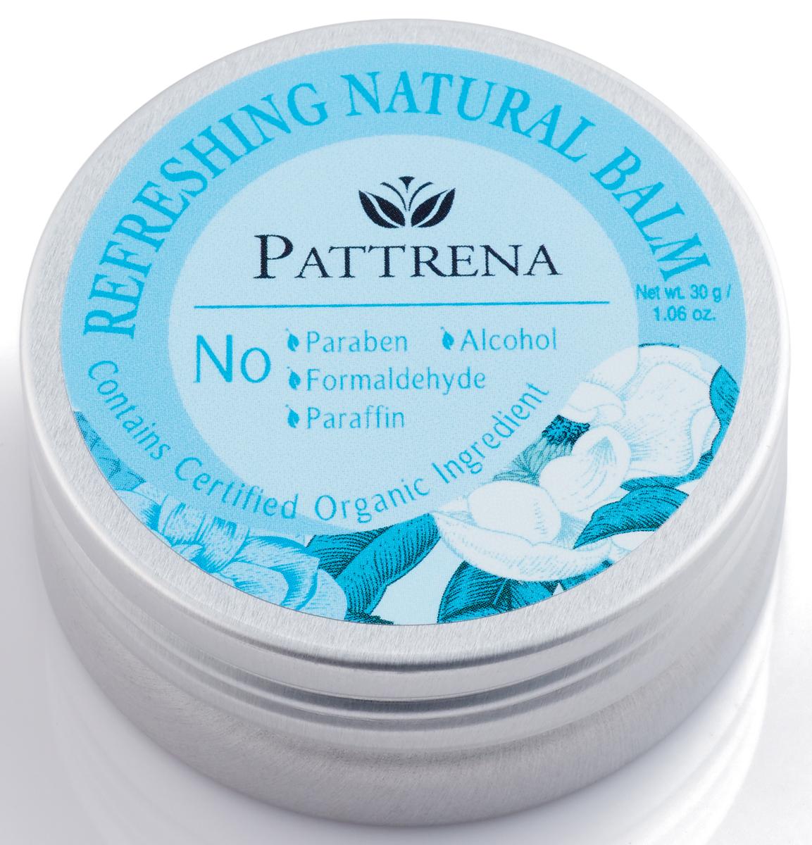 Pattrena Бальзам натуральный Освежающий, 30 г60255Универсальный бальзам без парабенов и парафина. Обогащен различными натуральными маслами, которые эффективно содействуют появлению ощущения расслабленности на коже.