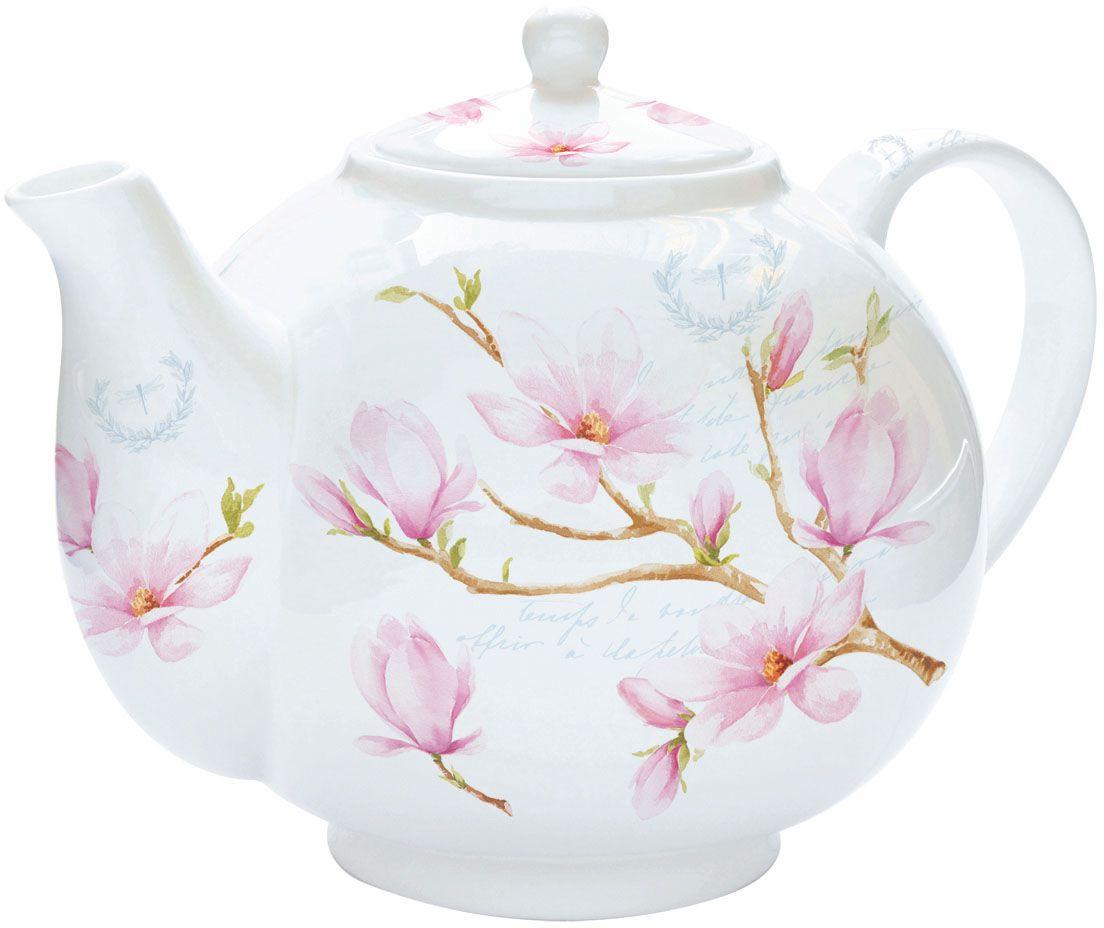 Чайник заварочный Nuova R2S Розовая магнолия, с ситом, 1 л321MAGNИзящный и элегантный чайник Nuova R2S Розовая магнолия изготовлен из высококачественного фарфора. Съемный фильтр из стали позволит быстро и легко очистить чайник. Заварочный чайник Nuova R2S Розовая магнолия станет великолепным подарком для любителей чая.Изделие упаковано в красочную подарочную коробку.Диаметр чайника (по верхнему краю): 6,5 см.Высота чайника (с учетом крышки): 14 см.Высота фильтра: 6 см.