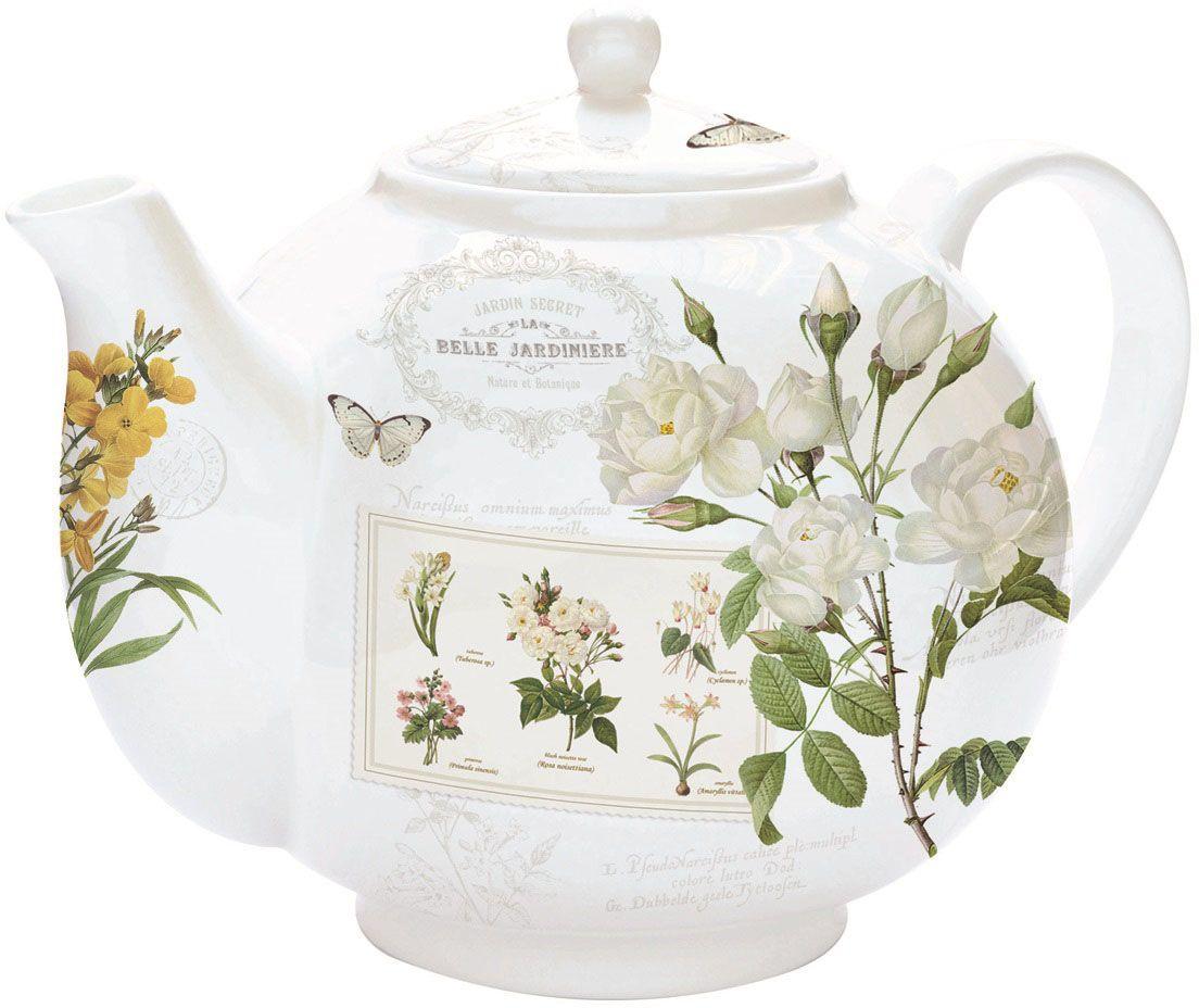 Чайник заварочный Nuova R2S Летние цветы, с ситом, 1 л130-023Изящный и элегантный чайник Nuova R2S Летние цветы изготовлен из высококачественного фарфора. Съемный фильтр из стали позволит быстро и легко очистить чайник. Заварочный чайник Nuova R2S Летние цветы станет великолепным подарком для любителей чая.Изделие упаковано в красочную подарочную коробку.Диаметр чайника (по верхнему краю): 6,5 см.Высота чайника (с учетом крышки): 14 см.Высота фильтра: 6 см.