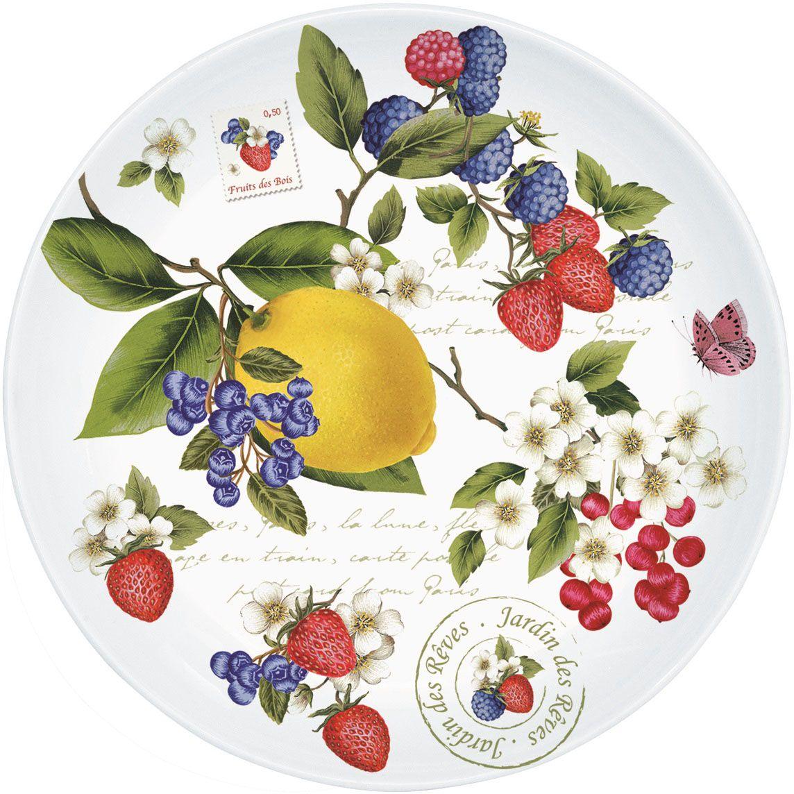 Десертная тарелка Nuova R2S Садовые ягоды, в подарочной упаковке, диаметр: 19 см324SEGRДесертная тарелка Садовые ягоды Д 19 см прекрасно подойдет в дополнение к кружке коллекции или как самостоятельный предмет посуды.