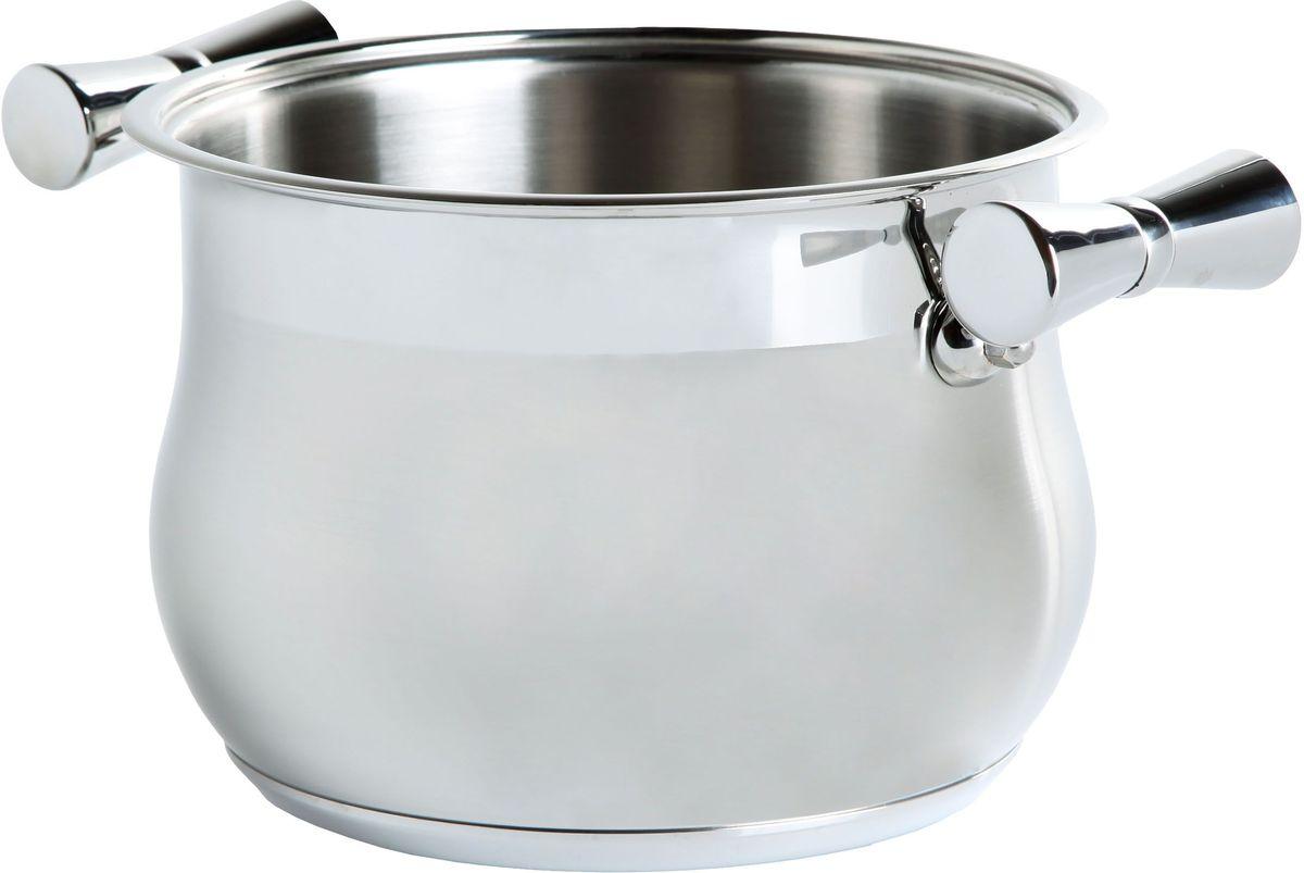 Кастрюля Inoxpran Prama Prandelli Collection, глубокая, с двумя ручками, 5 л, диаметр: 20 см5761114Кастрюля  Prandelli Collection изготовлена из высококачественной нержавеющей стали. Идеально подходит для приготовления блюд в большой семье. Многослойное термоаккумулирующее дно кастрюли обеспечивает наилучшее распределение тепла.Пригодна для мытья в посудомоечной машине.Кастрюля  Prandelli Collection выполнена со вкусом и любовью итальянских мастеров к еде и красоте.