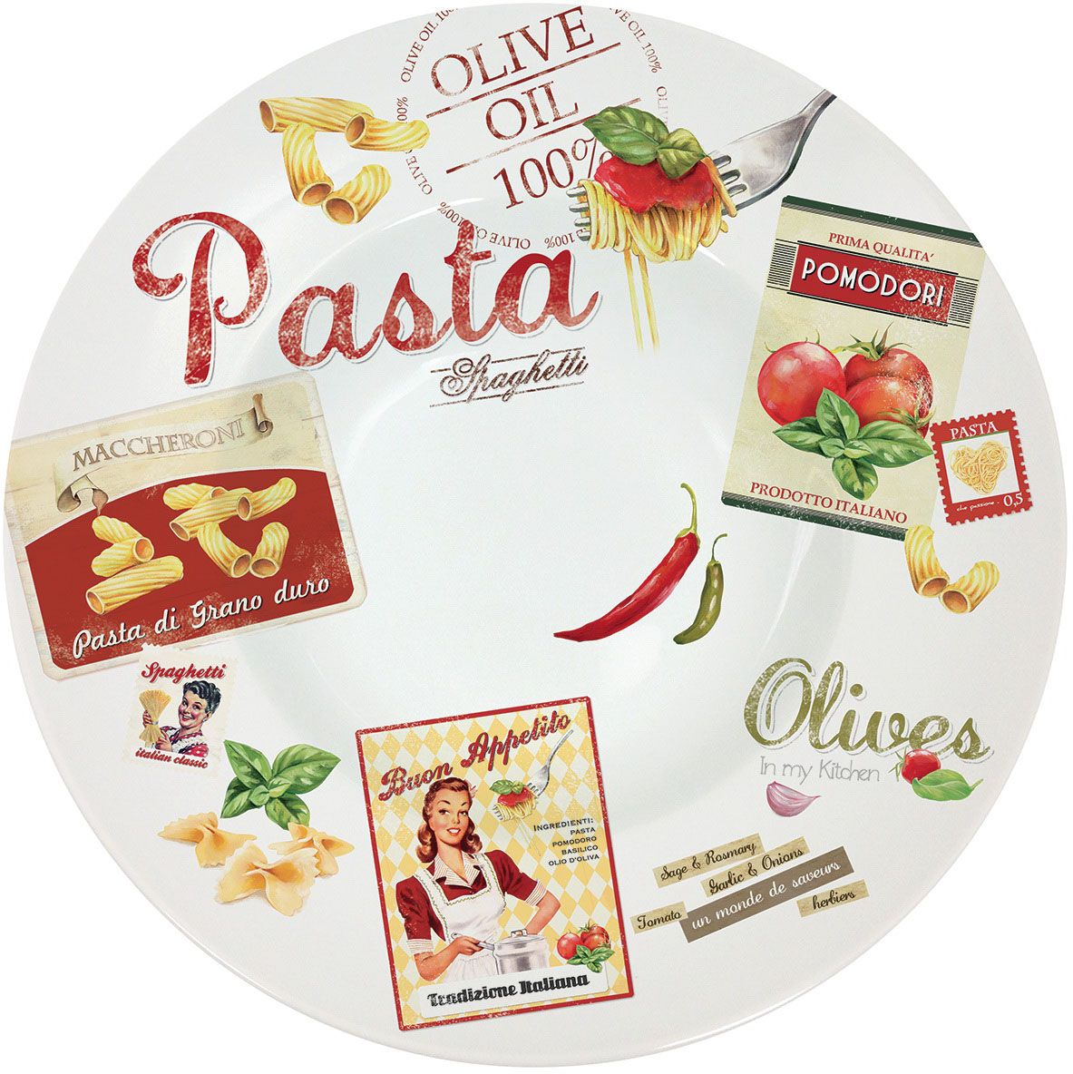 Блюдо Nuova R2S Винтаж, диаметр 30 см818VHCPБлюдо Nuova R2S Винтаж выполнено изфарфора. Оно идеально подойдет для изысканной подачи блюда для всей семьи. Диаметр блюда: 30 см.