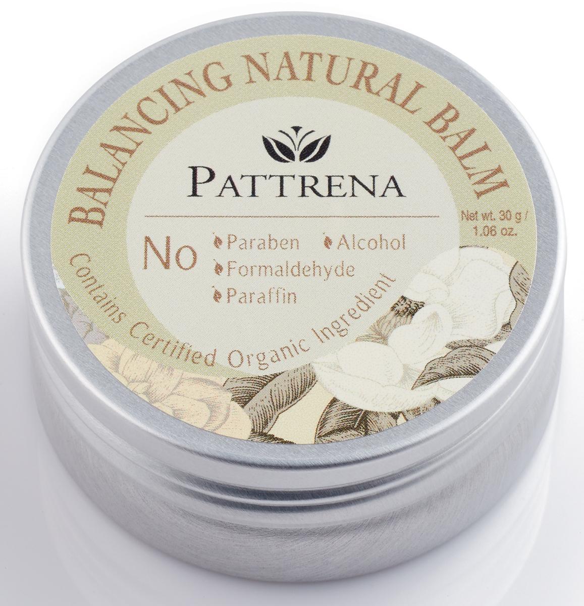 Pattrena Бальзам натуральный Балансирующий, 30 г64055Универсальный бальзам без парабенов и парафина. Обогащен различными натуральными маслами, которые эффективно содействуют появлению ощущения расслабленности на коже.
