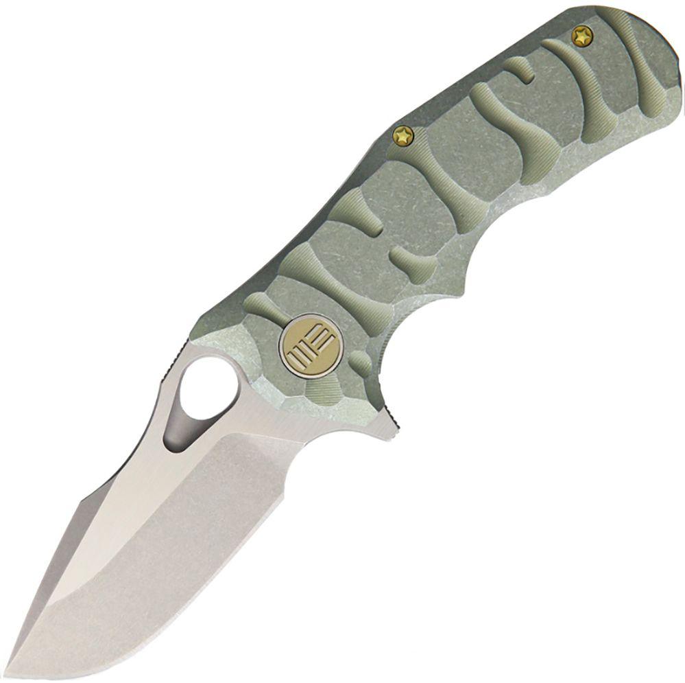 Нож складной We Knife, цвет: зеленый, длина клинка 74 ммWK/619D