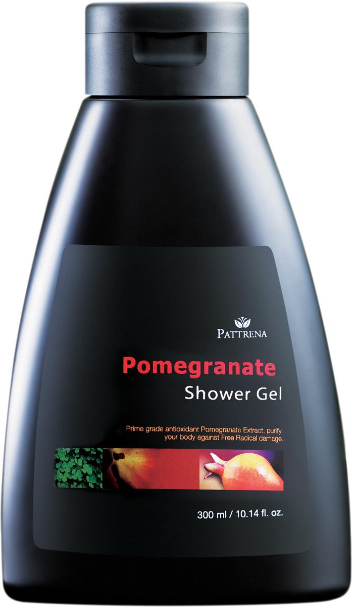 Pattrena Гель для душа Гранат, 300 мл64834Гель для душа с натуральными питательными ингредиентами – экстракт Граната, витамин Е. Обладает неповторимым пробуждающим ароматом Граната.Освежает, деликатно очищает кожу, смягчает и питает. Содержит антиоксидантные свойства.