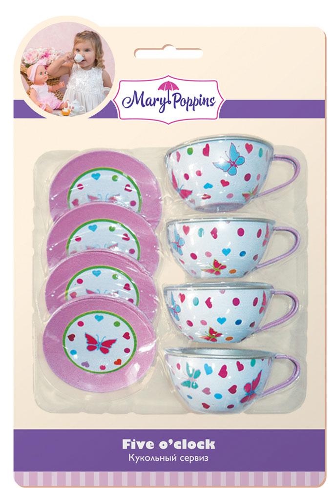 Mary Poppins Кукольный сервиз Бабочки 8 предметов mary poppins бабочки 46см