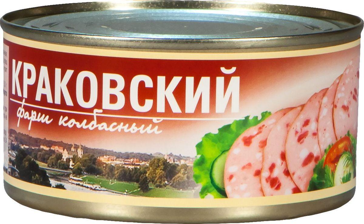Рузком Фарш колбасный Краковский, 325 г рузком мясо цыпленка в собственном соку 325 г