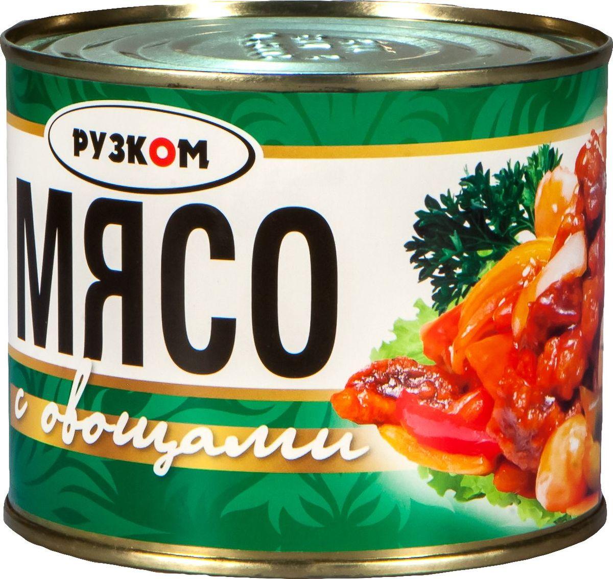 Рузком Мясо с овощами, 525 г мясо