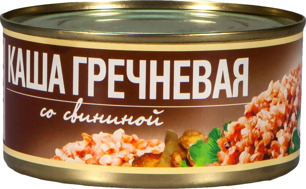 Рузком Каша гречневая со свининой, 325 г барс свинина тушеная высший сорт гост 325 г