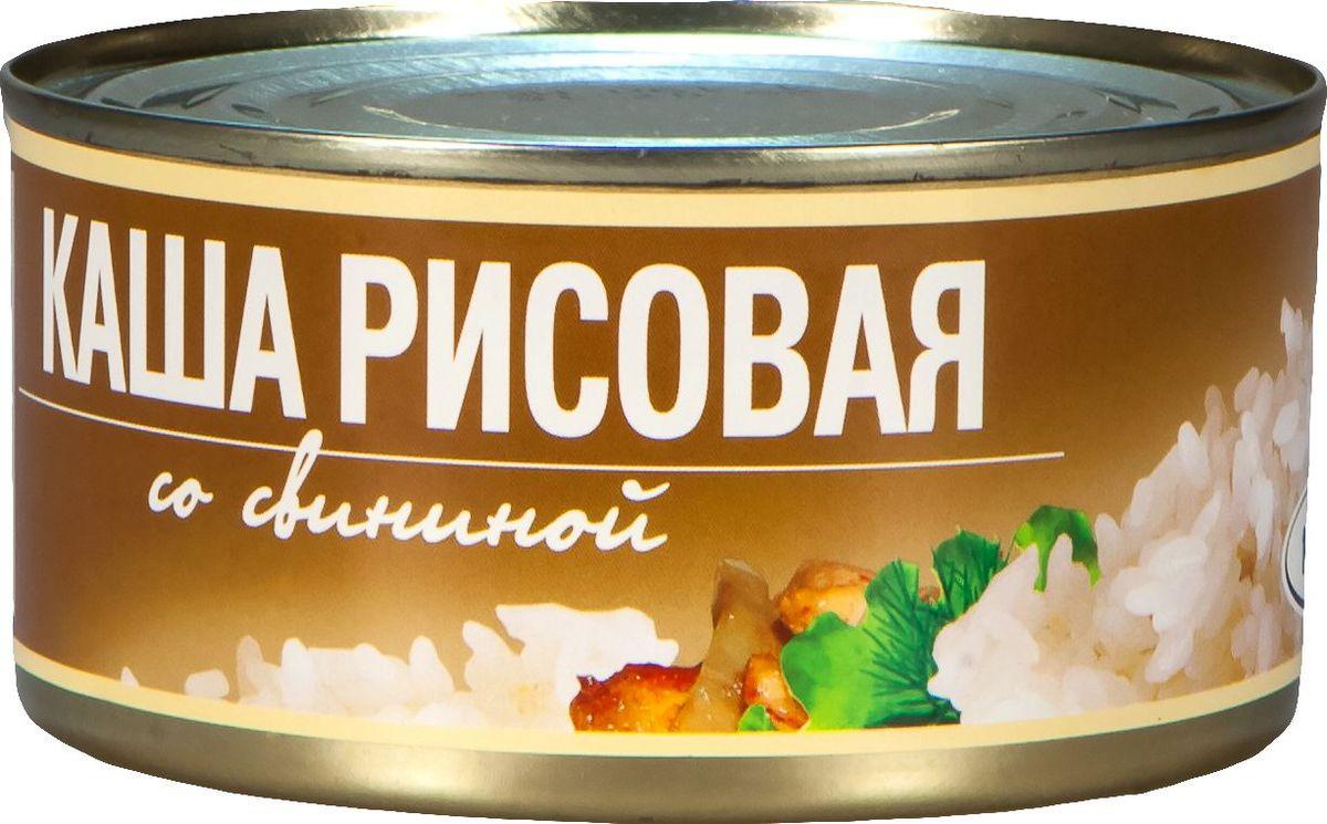 Рузком Каша рисовая со свининой, 325 г барс свинина тушеная высший сорт гост 325 г