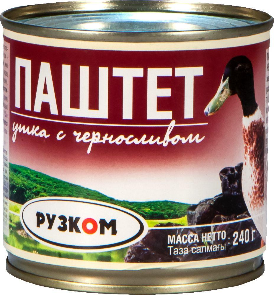 Рузком паштет из утки с черносливом, 240 г fortuna паштет из тунца 110 г