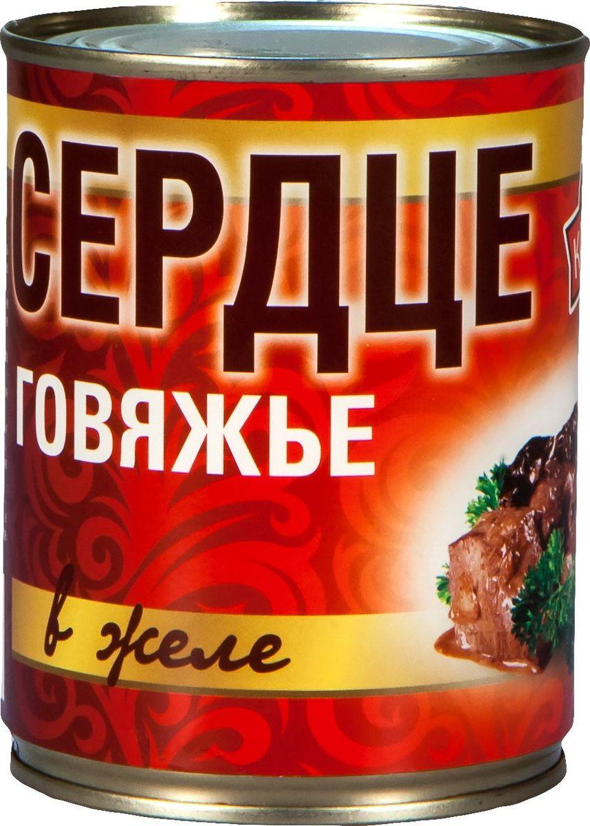 Рузком Сердце говяжье в желе, 338 г4606411013132Сердце говяжье в желе. Продукт готов к употреблению.
