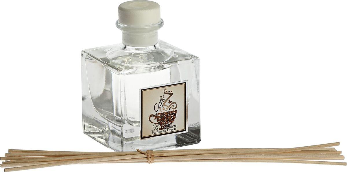 Диффузор ароматический Le Blanc Кофе, 50 мл2000000050652Аромат кофе - это аромат праздника. Яркий, бодрящий, пленительный, жгучий, будоражащий, экзотичный - он переворачивает в нашем сознании и настраивает на новый вдохновенный лад. Это утренний и дневной аромат. Вы будете насыщаться его жизненной силой и энергией. У Вас будет прекрасное настроение, а день наполнится творческими порывами, на которые Вас вдохновит восхитительное кофейное благоухание. Диффузор, упакованный в подарочную коробку, будет отличным подарком. В комплект входит емкость с жидкостью в выбранном объеме, тростниковые палочки, картонная коробочка.