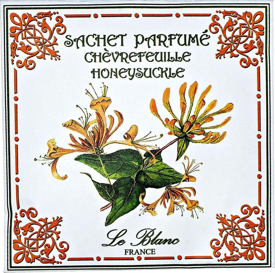 Саше ароматическое Le Blanc Жимолость3760110100331Ароматическое саше привносит в нашу жизнь тонкие, нежные ароматы, создает настроение легкости и воздушности. Саше относятся к разряду тех мелочей, благодаря которым создается настоящий уют в доме. Мощный лилейный аромат, разбавленный оттенками ванили и древесины, наполненный свежим ароматом цитрусовых, бодрящим мандариновым оттенком. Удивительный аромат, в котором смешались ненавязчивые ноты самых прекрасных цветов: лилии, розы, ванили, жасмина. Всё это вы услышите в одном восхитительном аромате жимолости - аромате истинного восточного искушения!