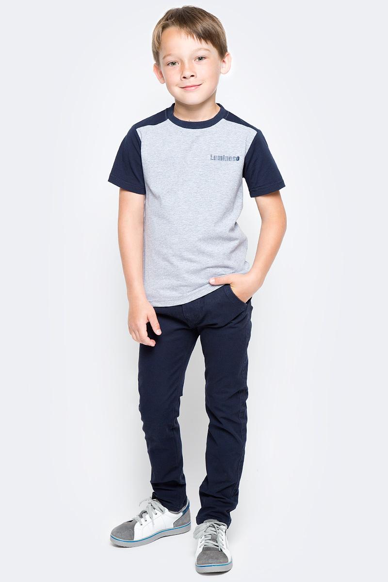 Брюки для мальчика Luminoso, цвет: темно-синий. 727069. Размер 164 брюки для мальчика imperator цвет темно коричневый 26303 размер 42 164 15 16 лет