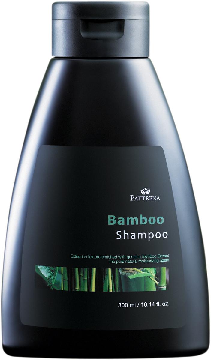 Pattrena шампунь Бамбук, 300 мл64234Предназначен для увлажнения структуры волос. Экстракт бамбука естественно увлажняет,смягчает волосы, делая их шелковистыми и гладкими. Подходит для нормальных волос.