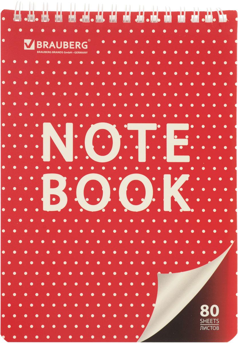Brauberg Блокнот Стиль 80 листов в клетку цвет красный белый блокнот любовное послание 80 листов