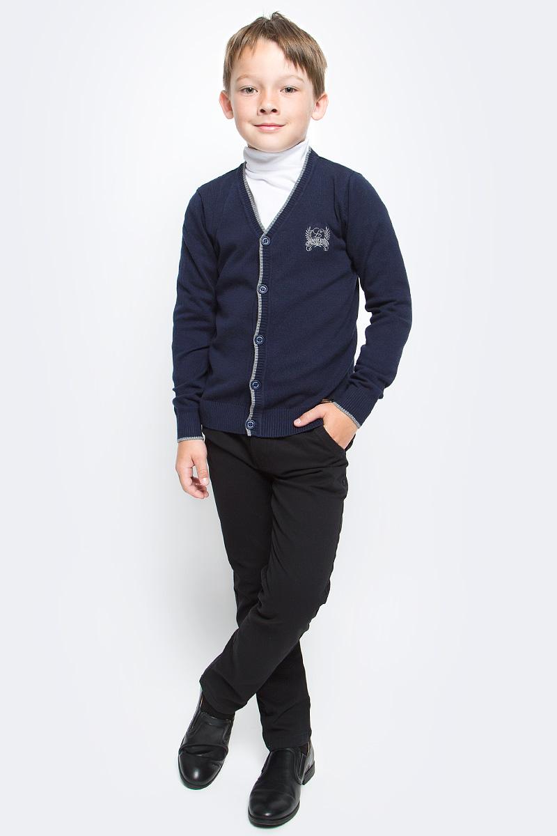 Жакет для мальчика Luminoso, цвет: темно-синий. 727017. Размер 122
