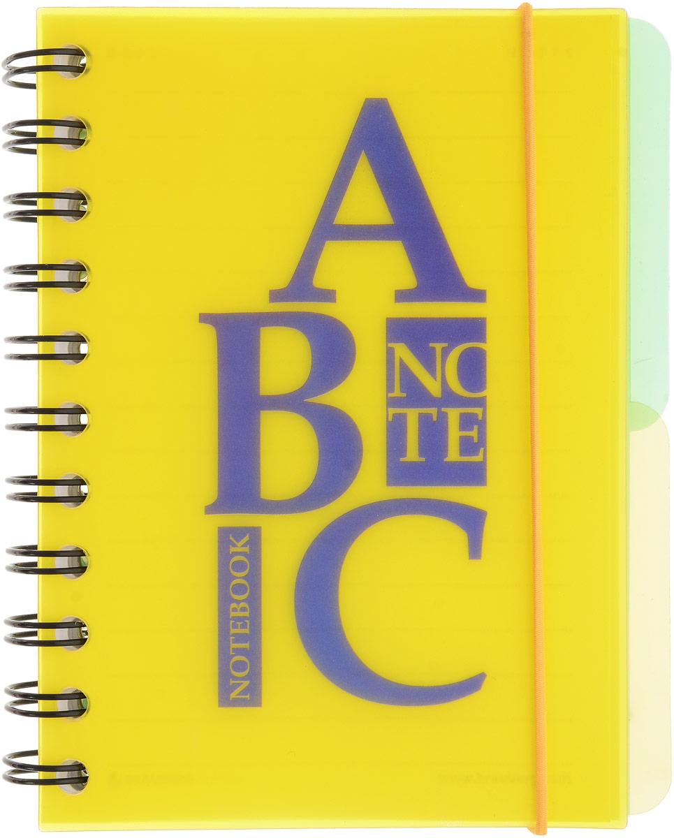 Brauberg Блокнот Буквы 120 листов в линейку цвет желтый125385_желтыйПрактичный блокнот Brauberg Буквы с пластиковой обложкой, защищающей внутренний блок от износа и деформации.Удобные съемные разделители помогают лучше ориентироваться в записях, а резинка-фиксатор не позволит блокноту раскрыться в сумке.
