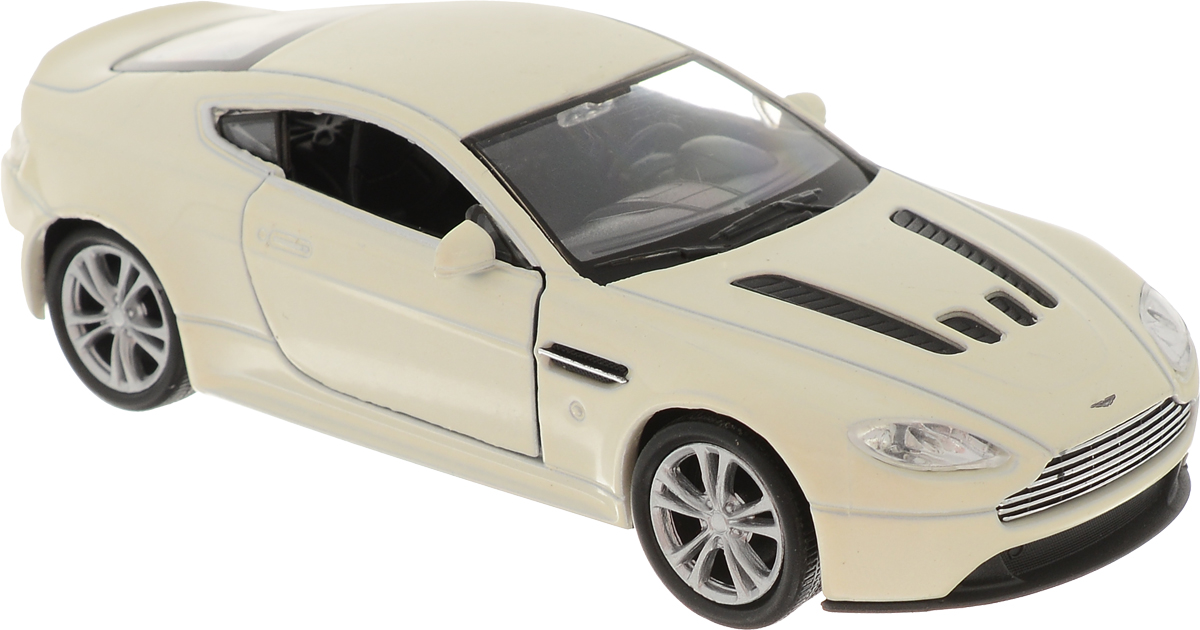 Welly Модель автомобиля Aston Martin V12 Vantage цвет молочный welly модель машины 1 24 aston martin v12 vantage welly