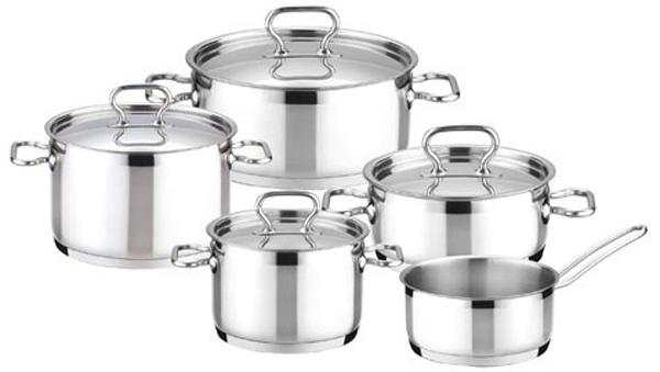 Набор посуды Tescoma President, 10 предметов. 780210 invicta кастрюля с крышкой чугунная 2 5 л 20 см синяя 402209 invicta