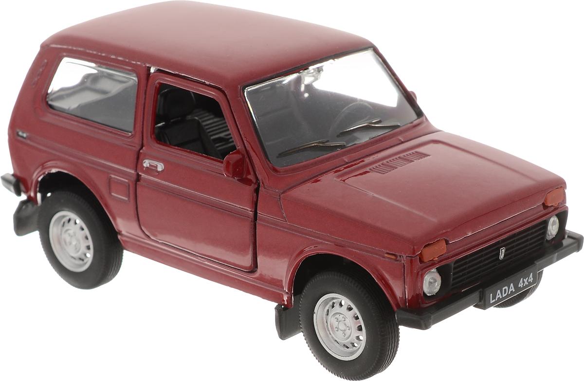 Welly Модель автомобиля LADA 4x4 цвет красный машина welly lada vesta такси 43727ti