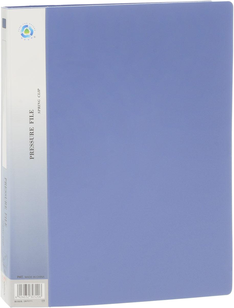 Comix Папка с зажимом цвет синий папка пластиковая для документов