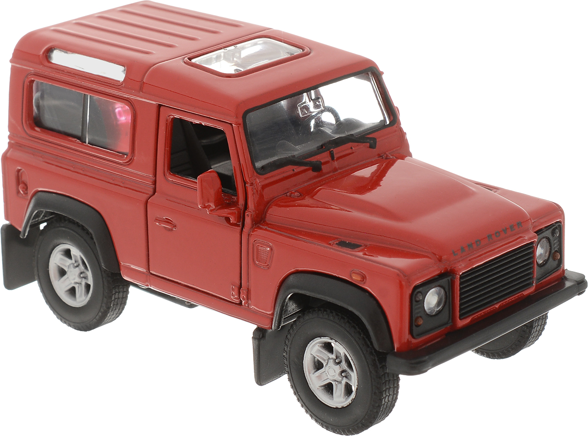 Welly Модель автомобиля Land Rover Defender цвет красный руководящий насос range rover land rover 4 0 4 6 1999 2002 p38 oem qvb000050