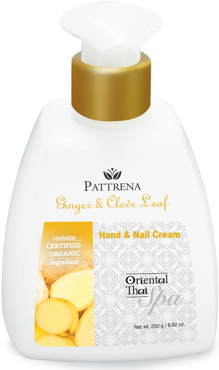 Pattrena Спа крем для рук и ногтей восточный тайский Имбирь и листья гвоздичного дерева, 250 г66351Крем для рук и ногтей нежирный, мягкой текстуры, быстро впитывается. Обогащенный натуральными ингредиентами - экстракт Имбиря, экстракт листьев Гвоздики, Аргановое масло смягчают и успокаивают сухие потрескавшиеся руки. Кератин укрепляет ногти, предотвращает от хрупкости. Обладает утонченным пряным ароматом, придает ощущение свежести и расслабленности.