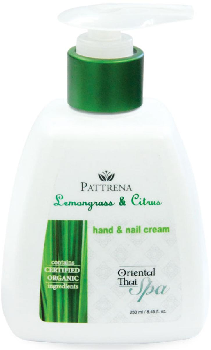 Pattrena Спа крем для рук и ногтей восточный тайский Лемонграсс и Цитрус, 250 г63647Крем для рук и ногтей нежирный, мягкой текстуры, быстро впитывается. Обогащенный натуральными ингредиентами - экстракт Лемонграсса, экстракт Лимона, Аргановое масло смягчают и успокаивают сухие потрескавшиеся руки. Кератин укрепляет ногти, предотвращает от хрупкости. Обладает утонченным ароматом сочетания Цитрусов и Лемонграсса, придает ощущение свежести и расслабленности.Как ухаживать за ногтями: советы эксперта. Статья OZON Гид