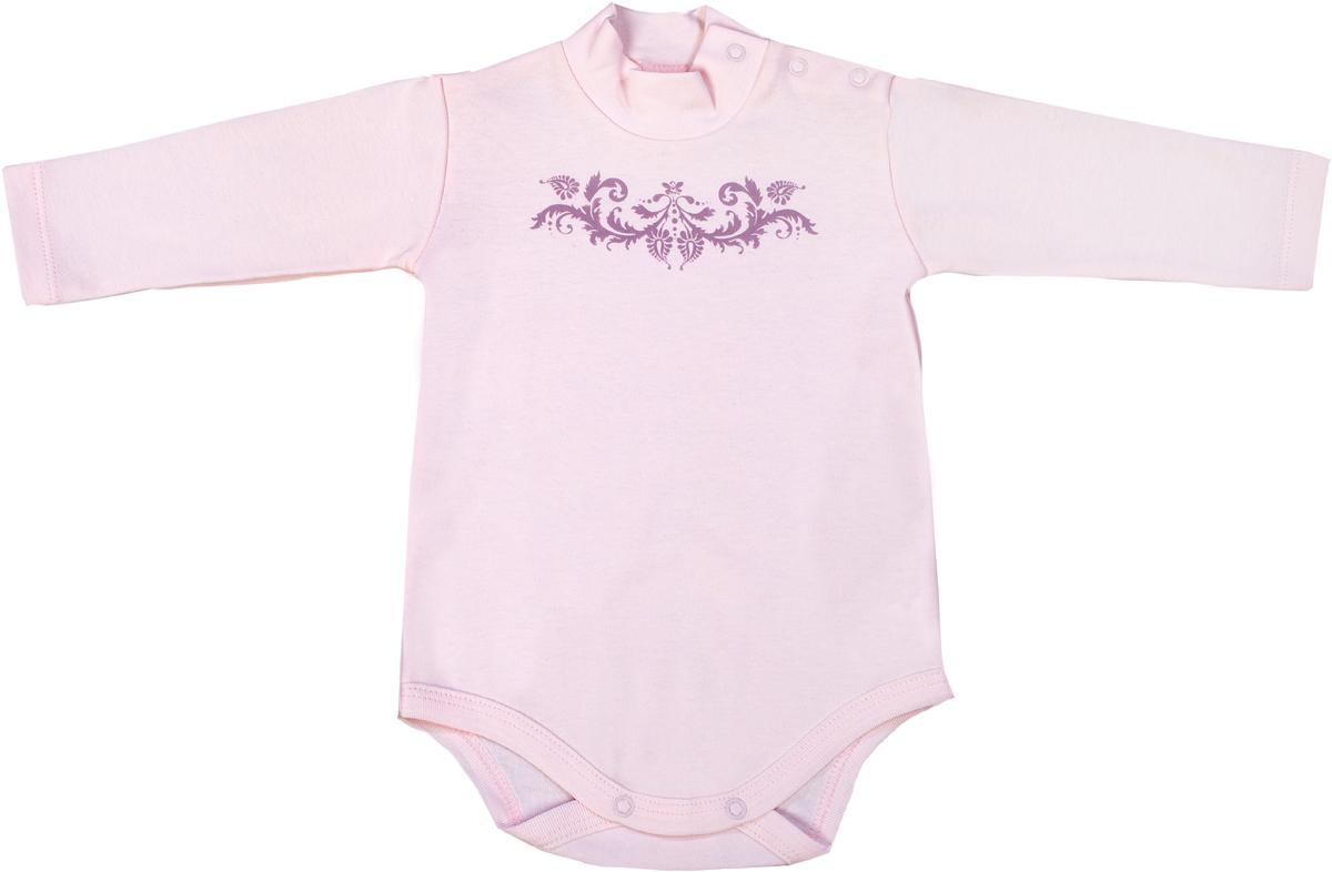 Боди для девочки Мамуляндия Ноктюрн, цвет: розовый. 17-411. Размер 80