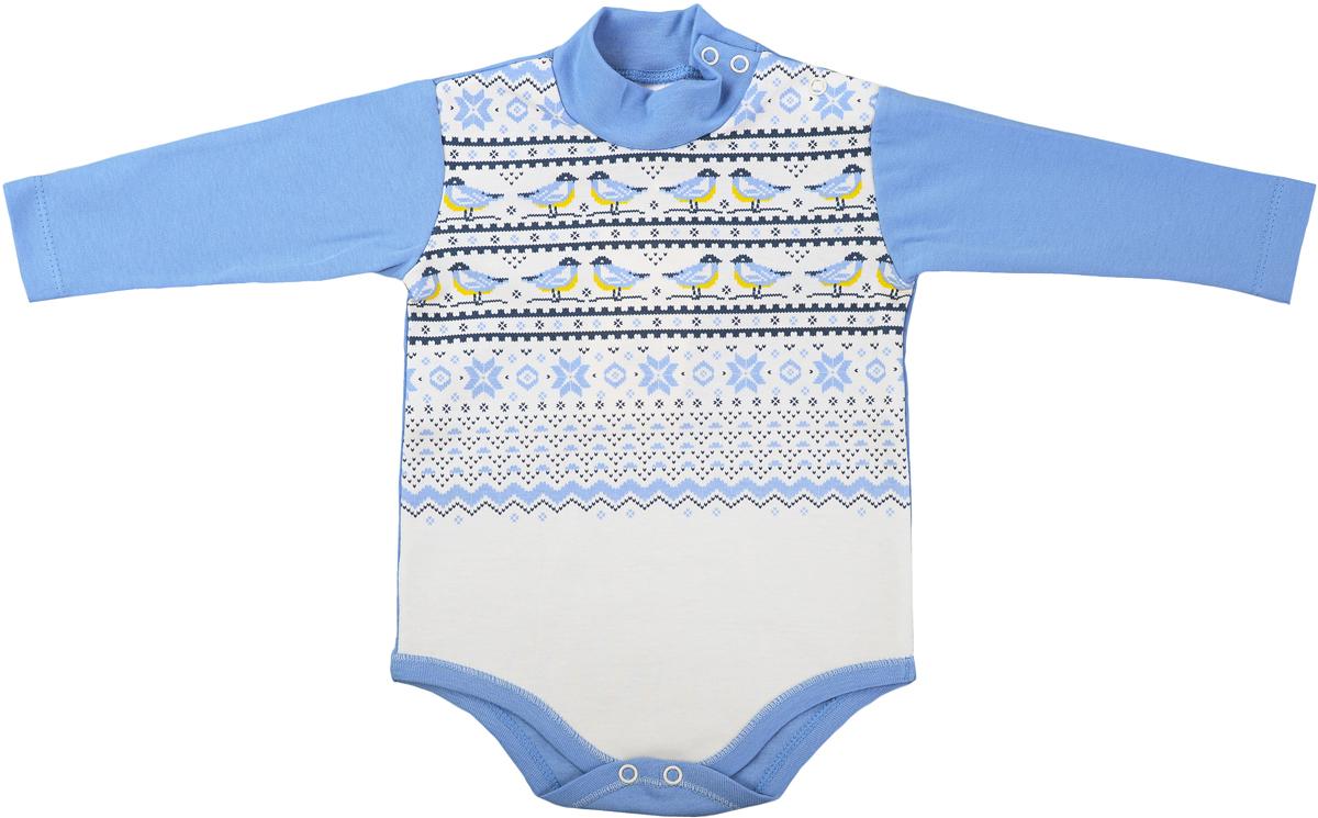 Боди детское Мамуляндия Зимняя, цвет: голубой. 17-511. Размер 86