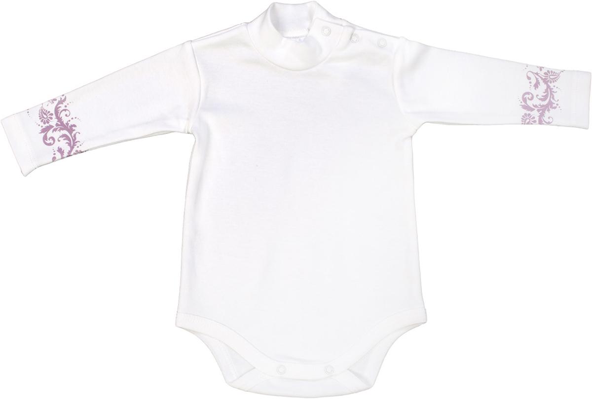Боди для девочки Мамуляндия Ноктюрн, цвет: молочный. 17-412. Размер 74