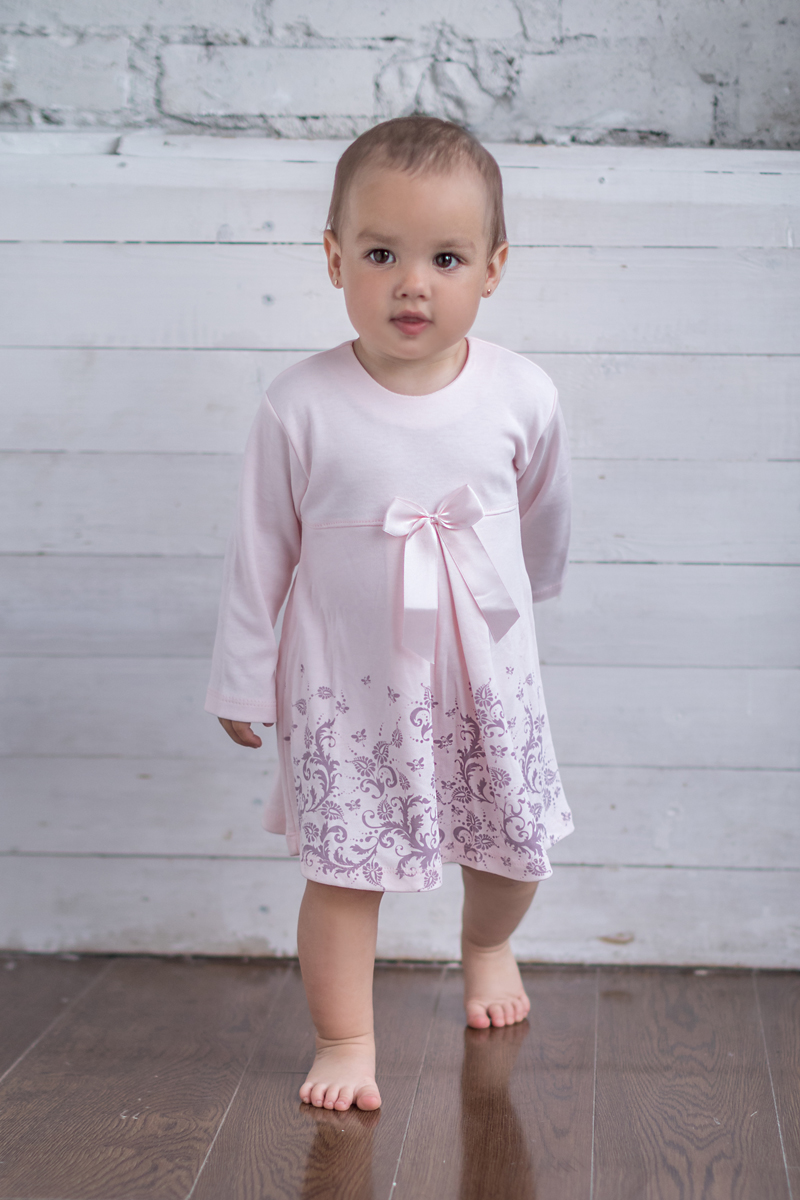 Боди-платье для девочки Мамуляндия Ноктюрн, цвет: розовый. 17-4007. Размер 74 ноктюрн пифагора