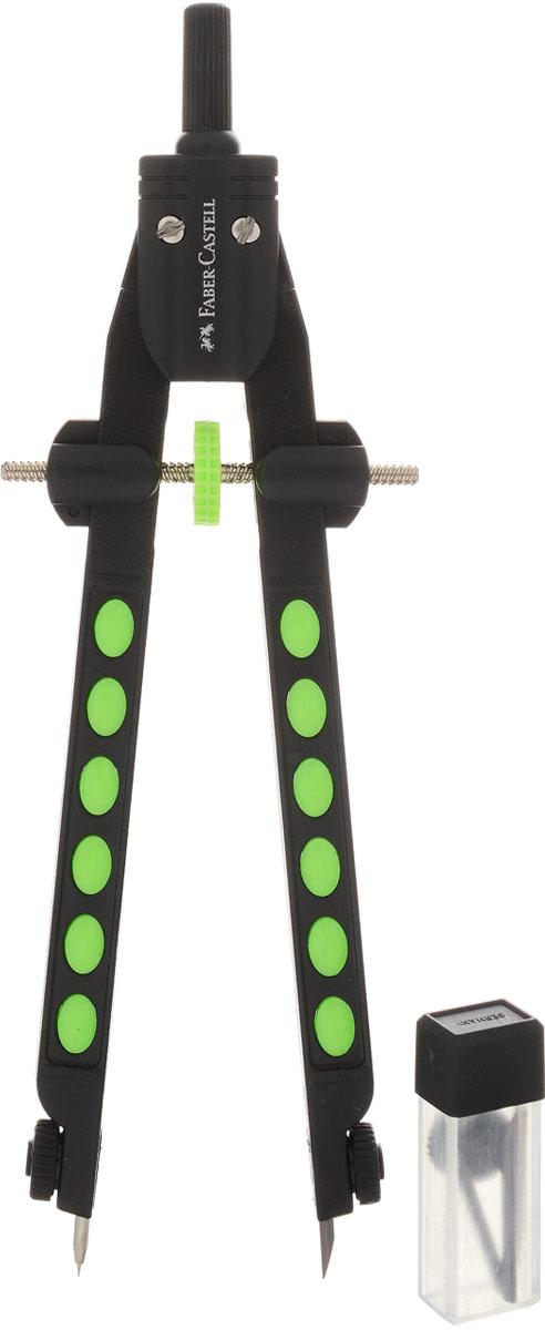 Faber-Castell Циркуль Factory Neon цвет салатовый - Чертежные принадлежности