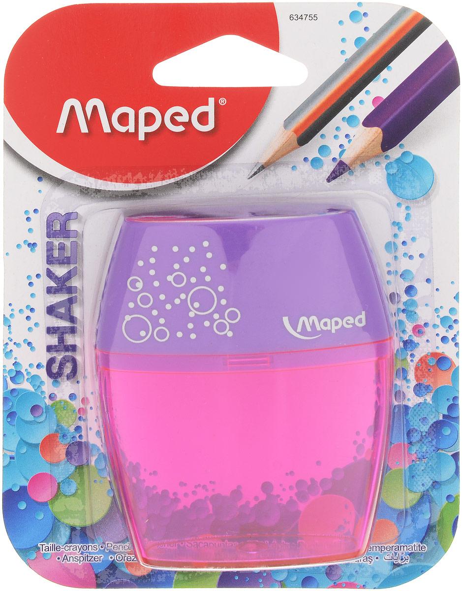 Maped Точилка двойная Shaker цвет фиолетовый розовый634755_фиолетовый, розовыйТочилка Maped Shaker с двумя отверстиями - для обычных карандашей и для карандашей Джамбо.