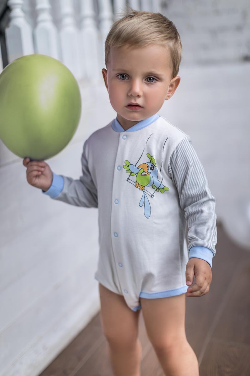 Боди для мальчика Мамуляндия Мультяшки-Мальчики, цвет: молочный. 17-701. Размер 80