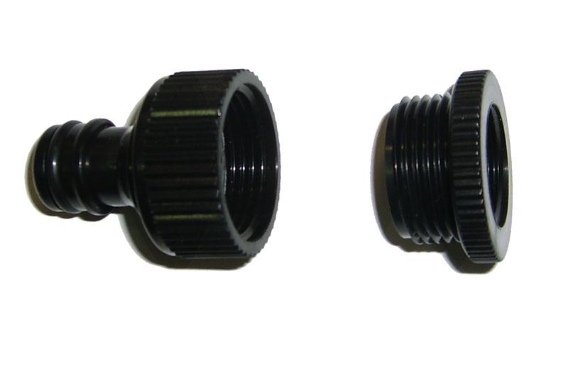 Адаптер внешний Skrab, резьбовой 1/2-3/4. 2826528265Адаптер с внутренней резьбой выполненный из ударопрочного пластика, применяется для перехода с внешних резьбовых соединений (1/2- 3/4) на быстросъёмную муфту. Рекомендован для надежного соединения шланга с другими элементами оросительной системы.