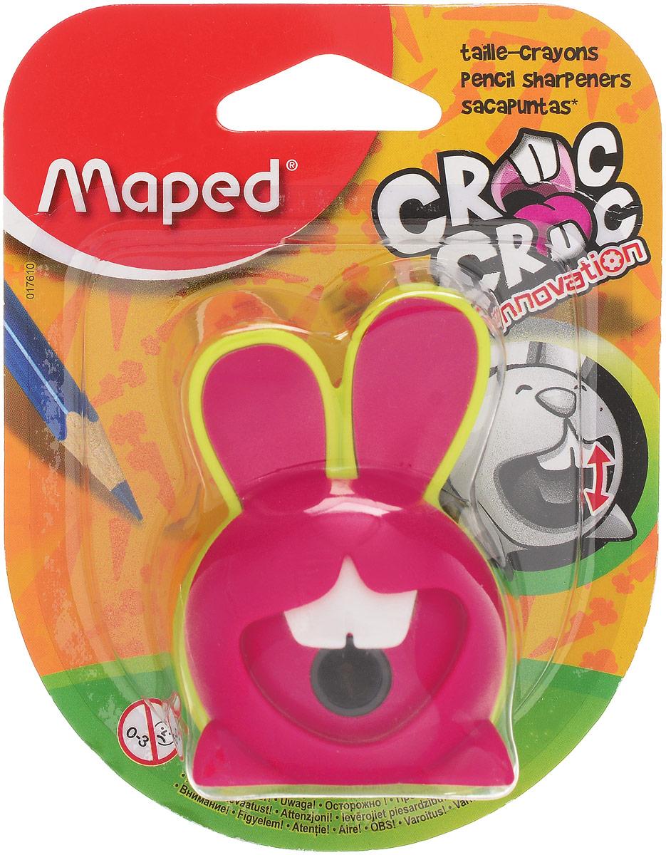 Maped Точилка Croc Croc Innovation цвет салатовый розовый017610_салатовый, розовыйТочилка для карандашей в форме кролика. При поворачивании карандаша в отверстии для заточки зубы кролика двигаются.