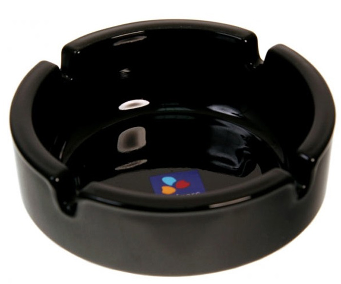 Пепельница Luminarc, цвет: черный, диаметр 10,7 см товары для дома