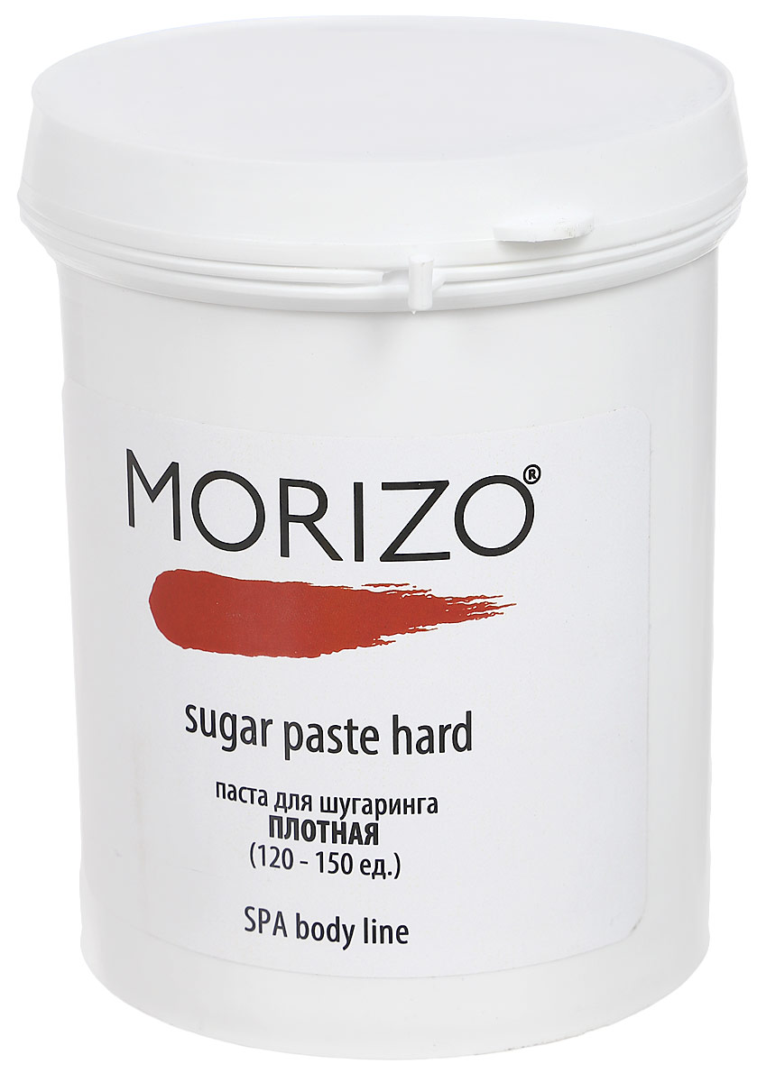 Morizo Паста для шугаринга Плотная, 800 мл109023Данная паста несмотря на структуру и плотность, деликатно удаляет нежелательную растительность, снижет и замедляет объем их роста. Не травмирует кожу.