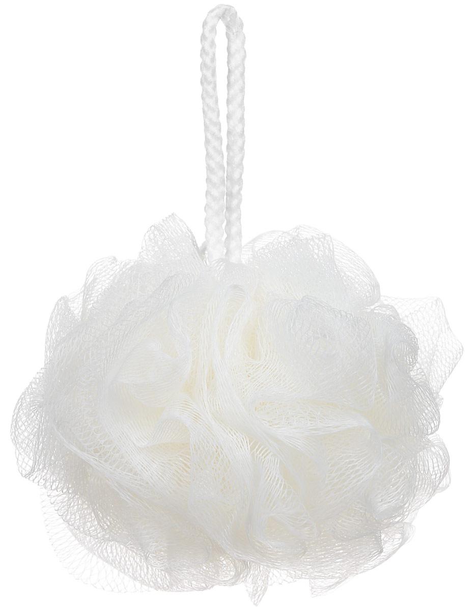 Riffi Мочалка-губка Массажный цветок, средняя, цвет: кремовый. 340 губка для тела riffi цвет бежевый 747