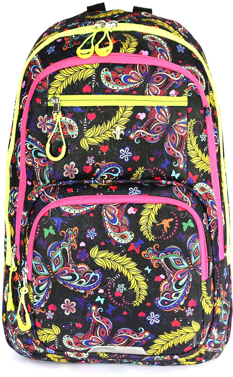 Рюкзак детский UFO people цвет черно-фиолетовый 76557655