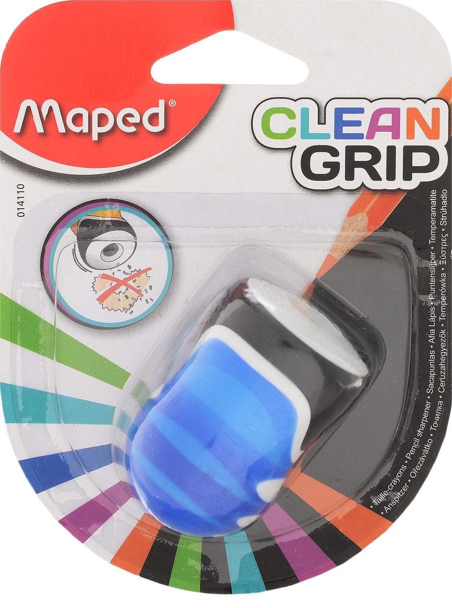 Maped Точилка Clean Grip цвет синий белый черный точилка maped signal цвет салатовый белый