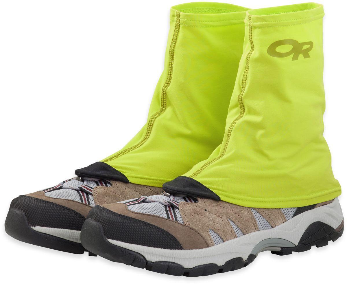 Гамаши Outdoor Research Sparkplug, цвет: желтый. 2430990489. Размер S/M (35-40)2430990489Короткие гамаши выполнены из водонепроницаемой ткани, прекрасно защитят от дождя, снега или грязи. Удобно крепятся к ботинкам.