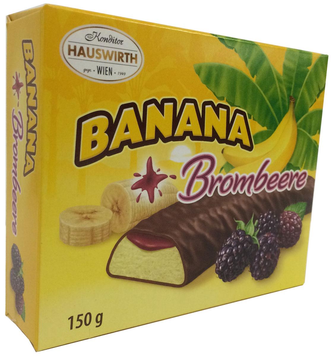 Hauswirth Банановое суфле с ежевичным джемом в темном шоколаде, 150 г9001395713019Банановое суфле с ежевичным джемом в темном шоколаде.